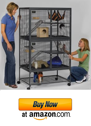 One of the cool chinchilla cages you can find online.